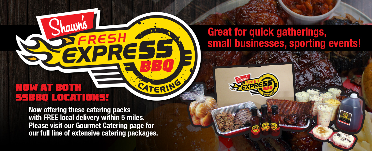 Fresh Express Catering packs available for delivery! Great for parties, gatherings, meetings!